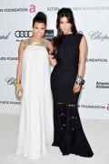 Ким Кардашиан, фото 7952. Kim Kardashian Elton John AIDS Foundation Academy Awards Party - 02/26/12*with sister Kourtney, foto 7952,